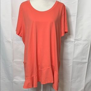 LOGO Lori Goldstein Short Sleeved Tunic Size 3X